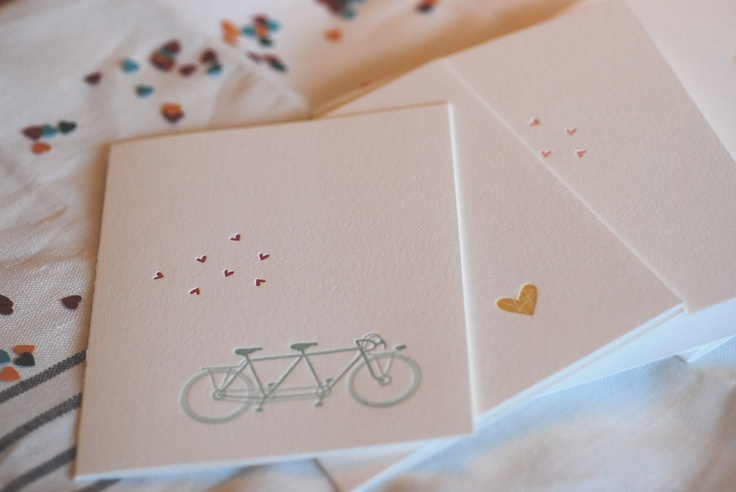 bike ride for two. sweet valentine's day card set from satsuma press
