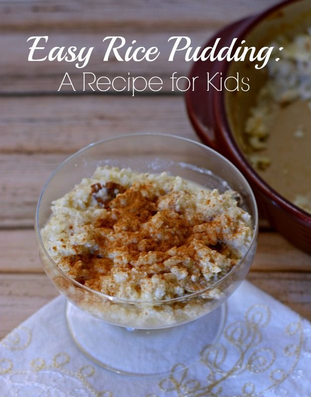Easy Rice Pudding is the perfect recipe for cooking with kids!