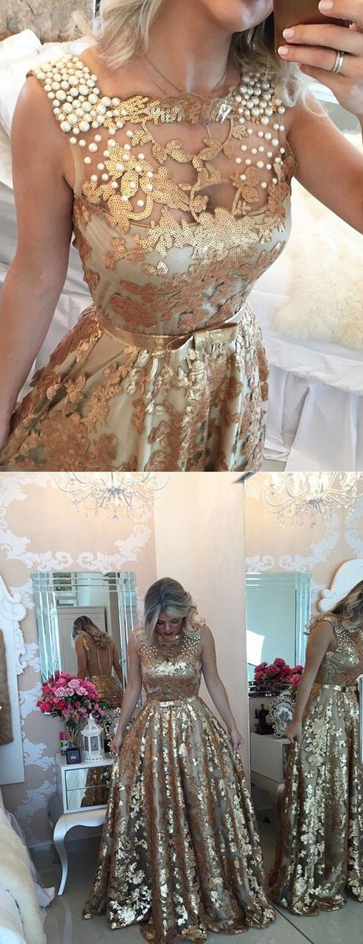 gold long prom dresses, 2017 prom dresses, gold sequins prom dresses, dresses for women, sexy prom dresses, vintage prom dresses