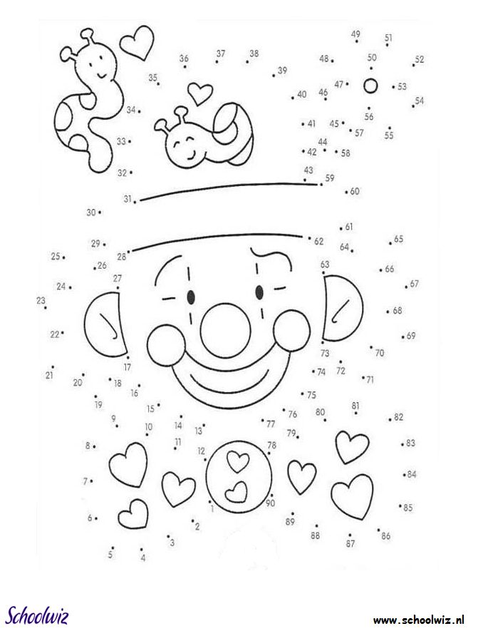 Nothing Found For Awesome Connect The Dots Coloring Pages Of Clown Page