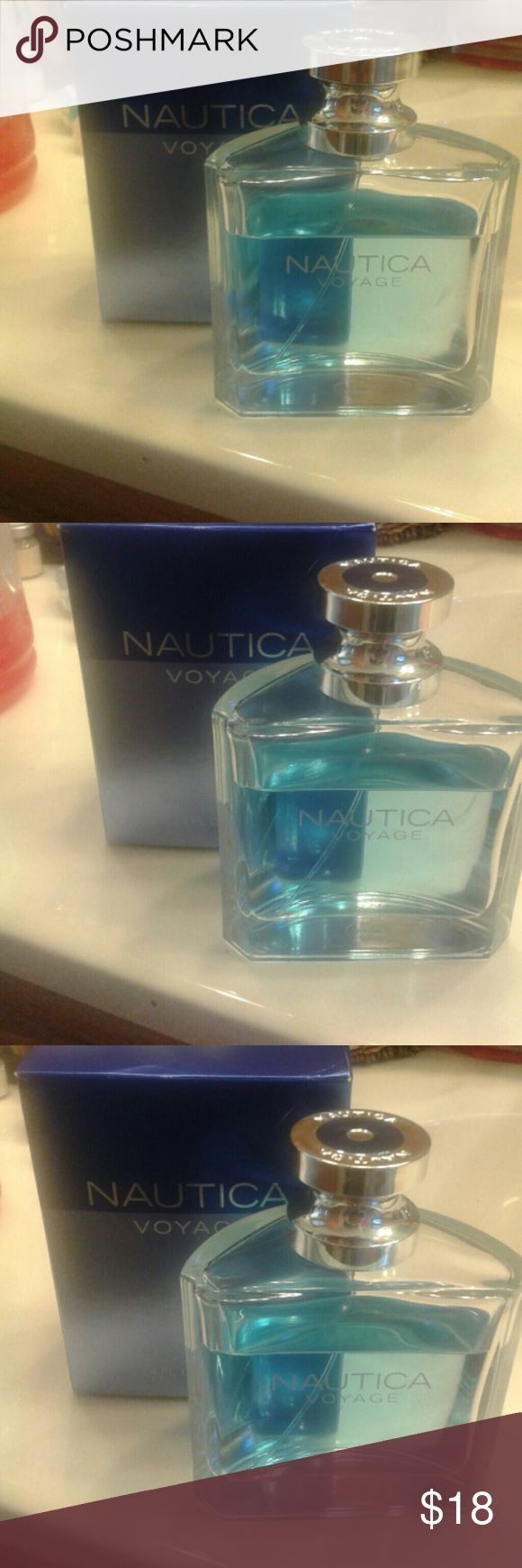 NEW! NAUTICA VOYAGE NEW!NAUTICA VOYAGE cologne , 3.4fl 0z, 100ml, eau de toilet spray, breathable, smells fantastic! Barley used, price reflects the use. Otherwise pretty full . Selling this designer brand for a great price!New! NAUTICA  Accessories