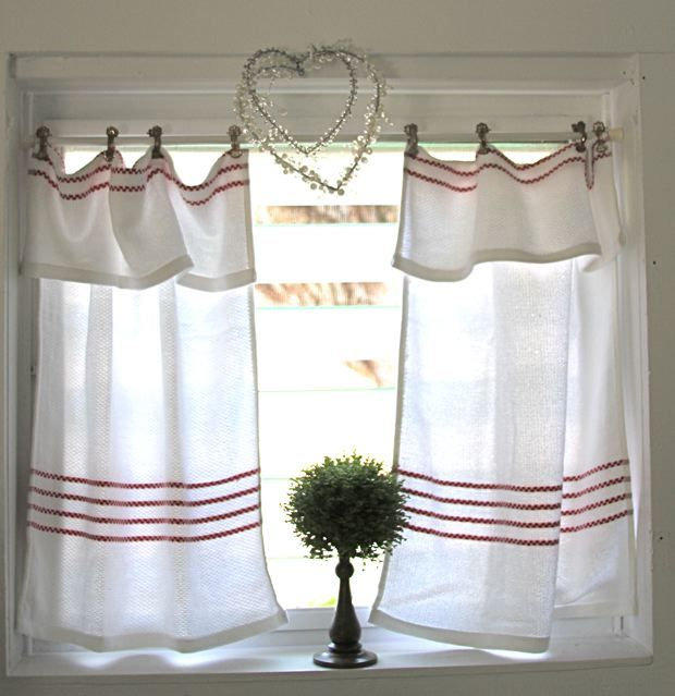 find this pin and more on linens upcycle reuse recycle repurpose diy by tickledpinktony easly kitchen curtains - Kitchen Curtain Ideas Diy