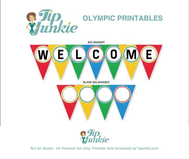 WELCOME Triangle Pennant Banner {free printable}