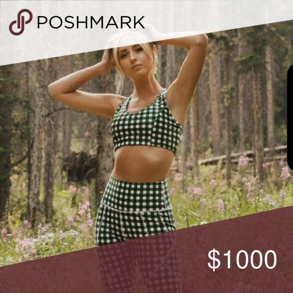 ISO gingham leggings and sports bra In search of albion fit gingham leggings and sports bra Albion Other