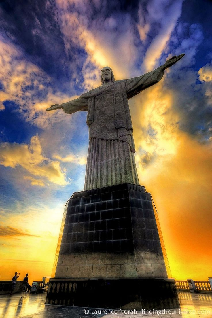 Sunset view Christ the Redeemer,Rio De Janeiro Photo by Laurence Norah