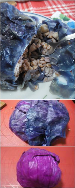 Cavolo rosso ripieno con faro e pesce ! #cavolorosso #cavoloripieno #pesce #farro #ricettegustose