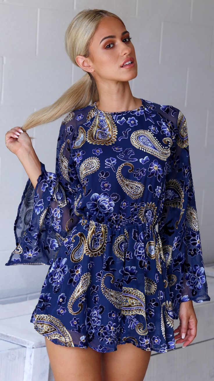 Lioness - Lovers & Gamblers Playsuit - Navy