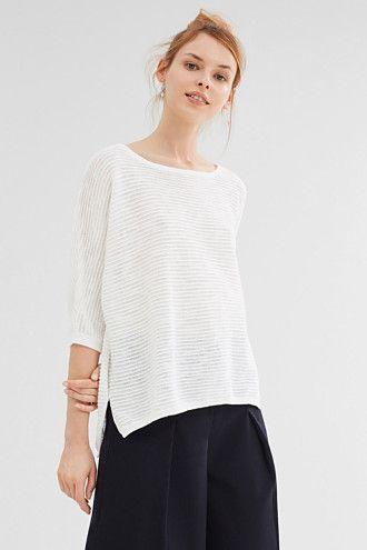Esprit / Softer Oversize-Pullover, 100% Baumwolle