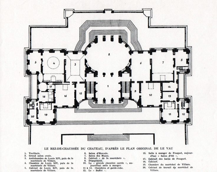 Chateau De Vaux Le Vicomte Ground Floor Plan