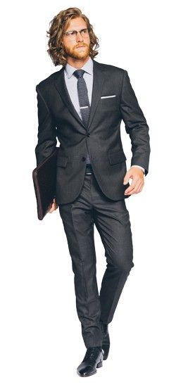 Wedding Suit: Premium Charcoal Suit (Indochino)