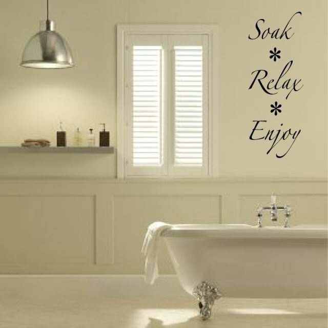 bathroom wall decal wall art soak relax enjoy vinyl wall bathroom decal quote for your home 5 sizes available choose color