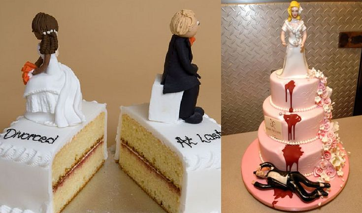 10 DIVORCE CAKES THAT ARE EVEN BETTER THAN WEDDING CAKES
