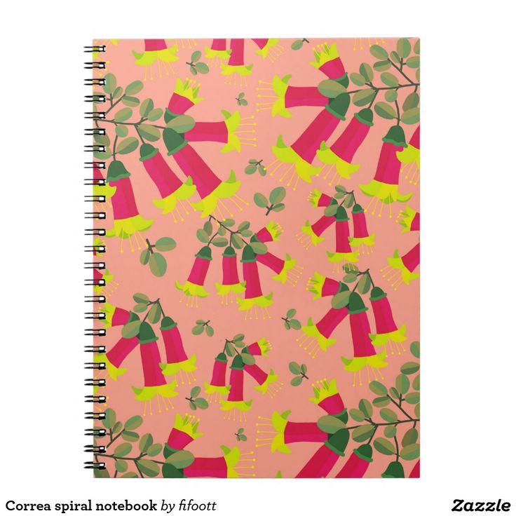 Correa spiral notebook