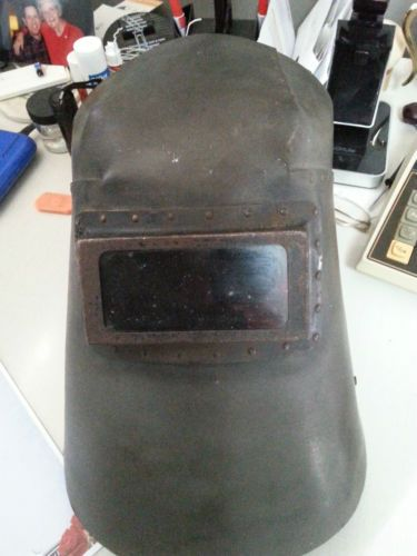 36.99 VINTAGE-Lincoln-Riveted-Welding-hood-Helmet-mask-steampunk
