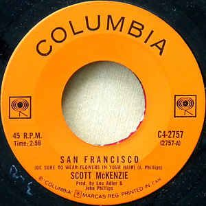"""Scott McKenzie - San Francisco (Be Sure To Wear Flowers In Your Hair)/What's the Differnce 1967 (Vinyl) 45RPM 7"""" at Discogs"""