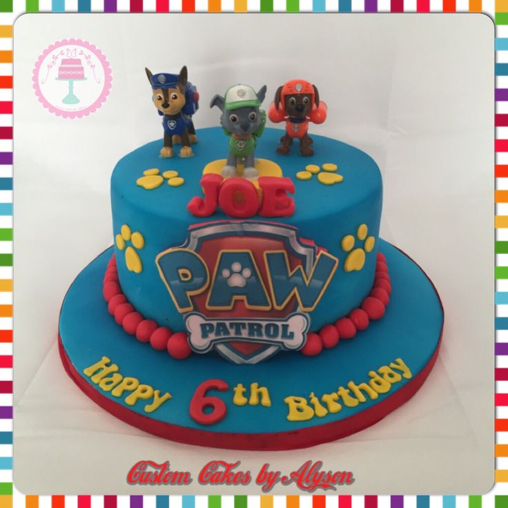 Images Of Paw Patrol Birthday Cake : 17 best ideas about Paw Patrol Cake on Pinterest Paw ...