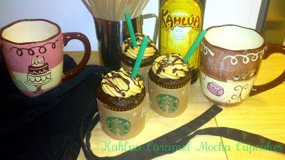 Bake It With Booze!: Kahlua Caramel Mocha Cupcakes