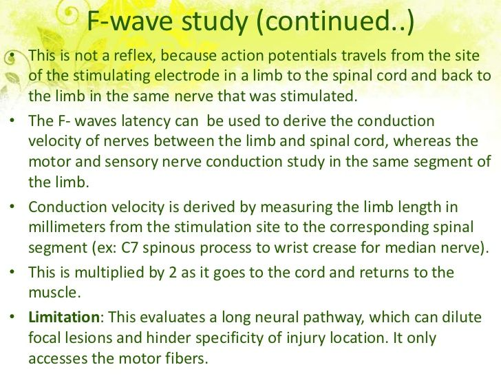 H- reflex study (continued..)• This NCS creates a late response that is an electrically evoked  analogue to a monosynaptic...
