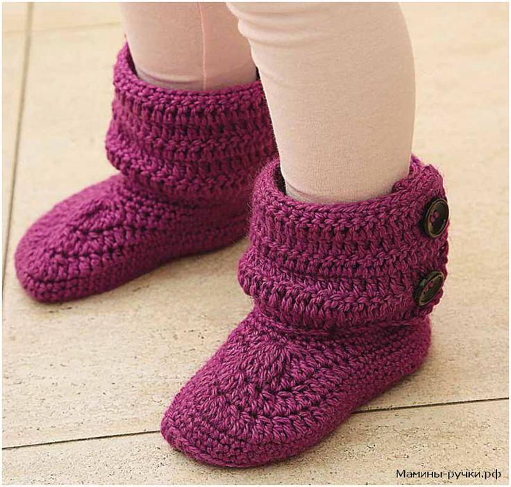 Детские ботиночки вязаные крючком