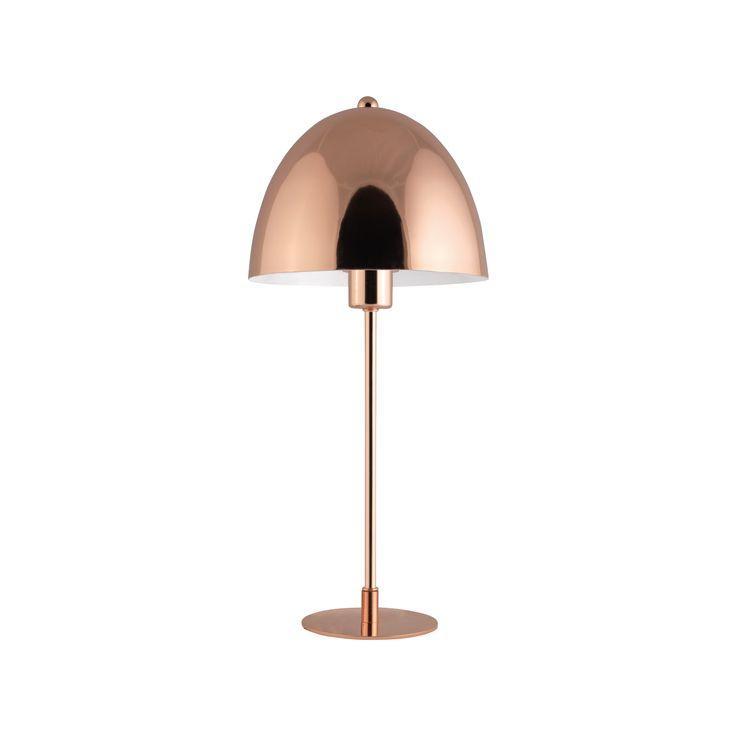 LAMPADA IN METALLO O1022   Lampada da tavolo in metallo finitura rame. Diam. 19x42h cm.