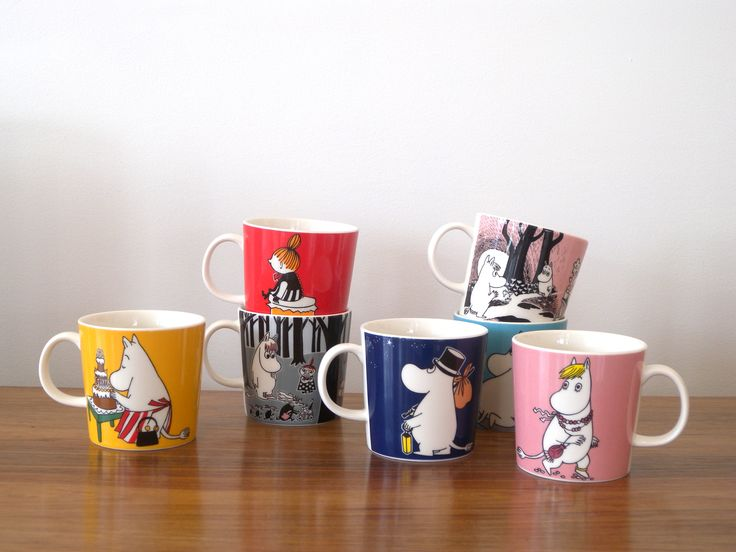 Current range of Moomin mugs from Arabia of Finland