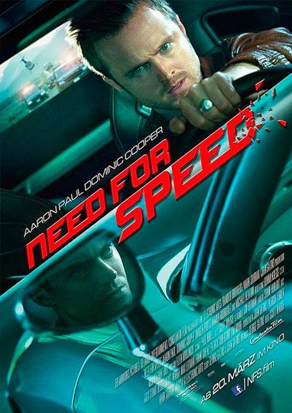 Nuevo póster para 'Need for speed' la película basada en la franquicia de videojuegos y protagonizada por Aaron Paul.