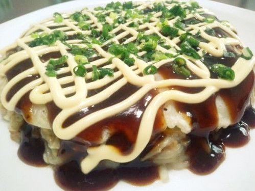 Melting Okonomiyaki with Cabbage