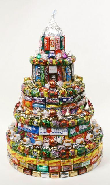 Candy Birthday Cakes: