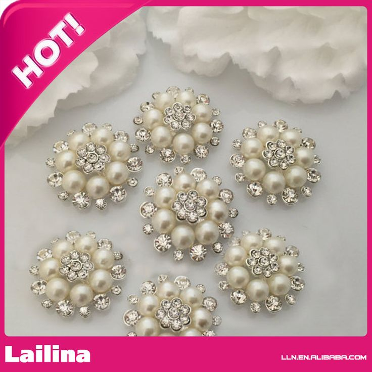 Find More Hair Accessories Information about Grace rhinestone pearl button 26mm for wedding decoration,High Quality button accordions for sale,China button packaging Suppliers, Cheap button mother of pearl from Lailina Jewelry Co., Ltd on Aliexpress.com