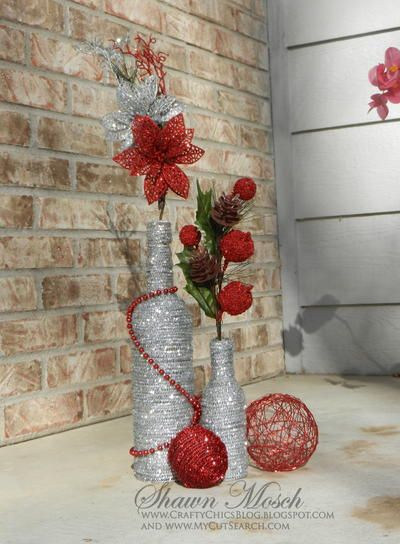 Wine Bottle DIY Christmas Decor - Learn to make DIY home decor for the holidays with this wine bottle craft idea.