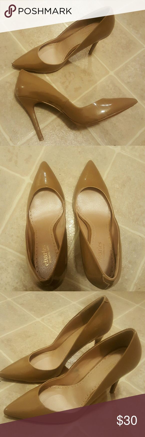 """Charles David Nude Pumps Charles David Nude pumps. Worn once for a few hours, still in excellent condition. No scuffs, tears or stains. Approx. 3"""" heel. Charles David Shoes Heels"""
