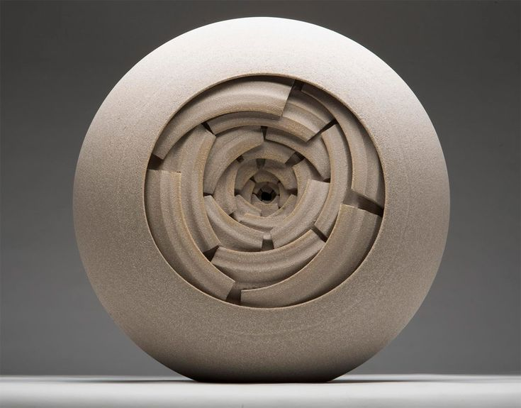 concentric sphere sculpture by Matthew Chambers #sculpture #ceramic