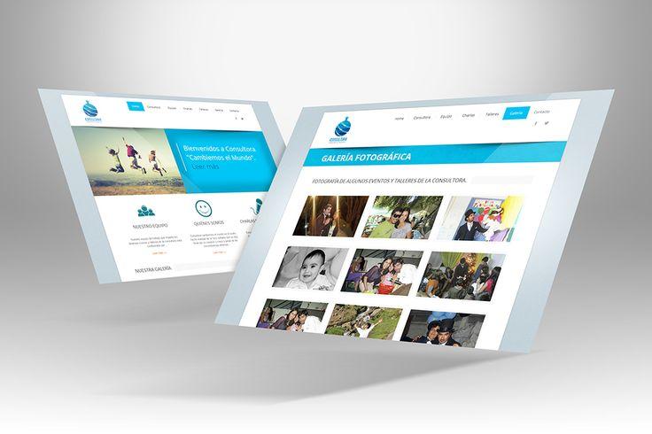 """Diseño y maquetación del sitio web """"Consultora Cambiemos el mundo""""."""