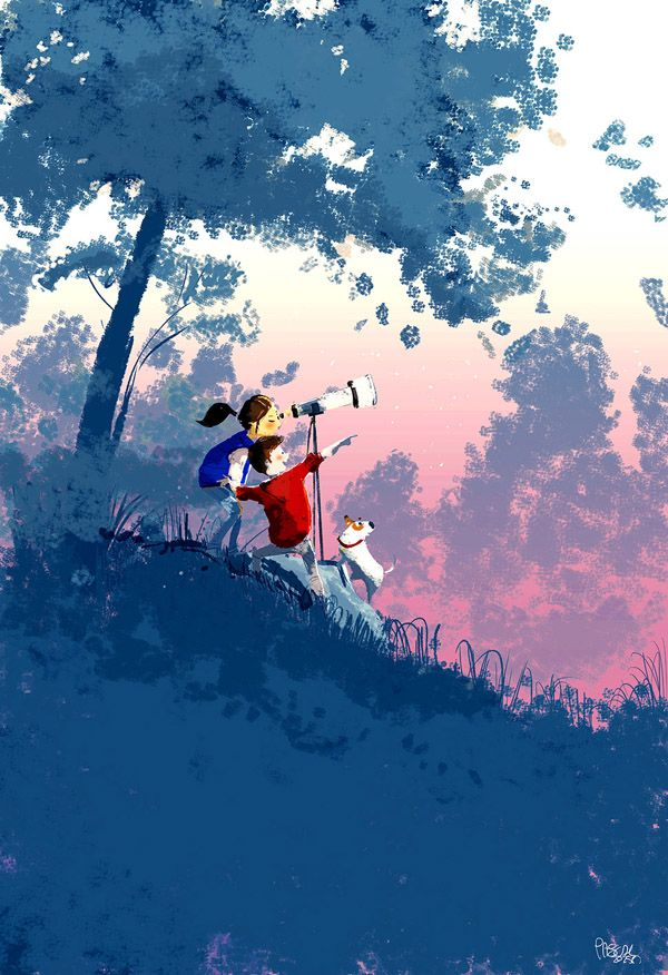 Up in the stars by Pascal Campion - Illustriations by Pascal Campion  <3 <3