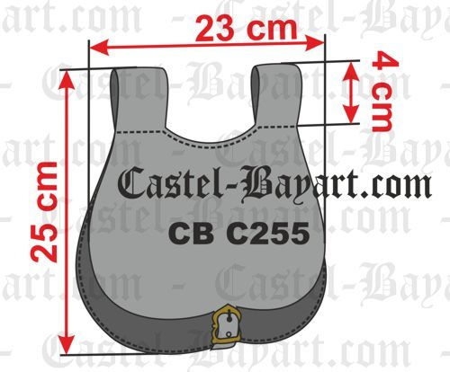 Large medieval pouch bag : Historical reproduction of leather pouch bags of the middle ages