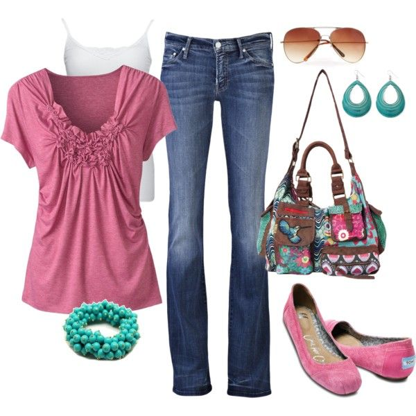 Turquoise and Pink - CUTE