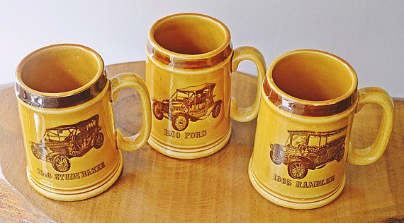 Check out this item in my Etsy shop https://www.etsy.com/ca/listing/546738289/vintage-car-mugs-antique-car-mugs
