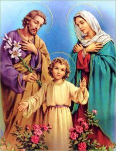 A Sagrada Família, Jesus, Maria e José, as famílias e o mundo atual.