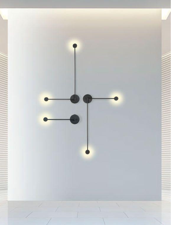 Σύνθεση με απλίκες τοίχου LED σε εντυπωσιακό γεωμετρικό μοτίβο. Δοκιμάστε το!