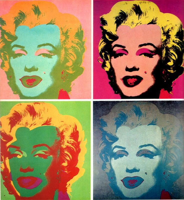 Teen Themes Pop Art Self Portraits (Grades 7-12) Supporting artist Andy Warhol. Students will be asked to draw a self portrait, which will then be photocopied 3 times. Each copy must be altered. materials: oil pastels & water color. Students will be shown methods of useing the materials to create different pop-art effects.