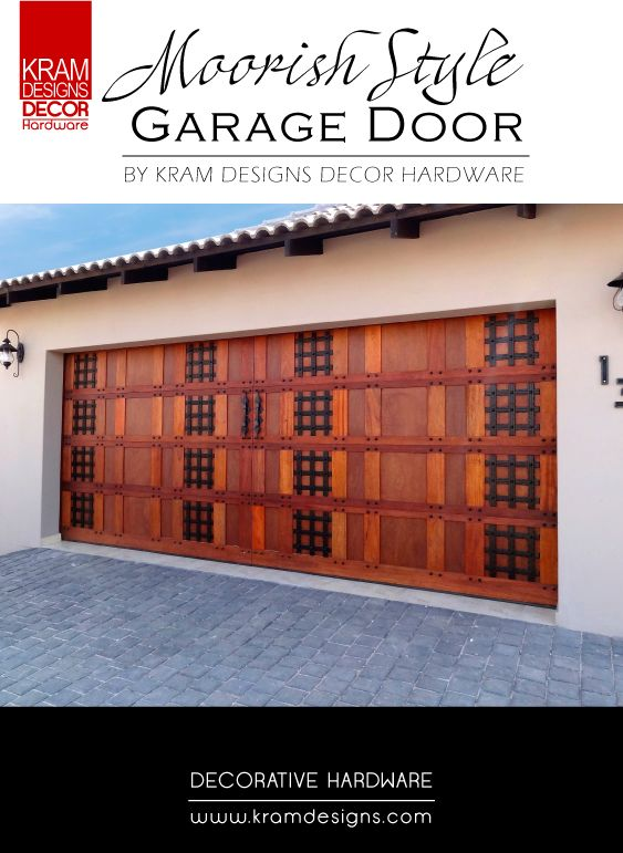 False decorative Straps from Kram Designs Decor Hardware was used to enhance the look of the Garage Door.