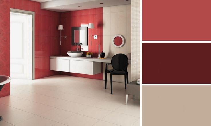 salle de bains rouge roca