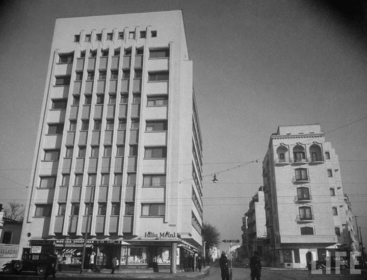 Calea Dorobanţilor, în 1940, la intersecţia cu Eminescu şi Dacia.