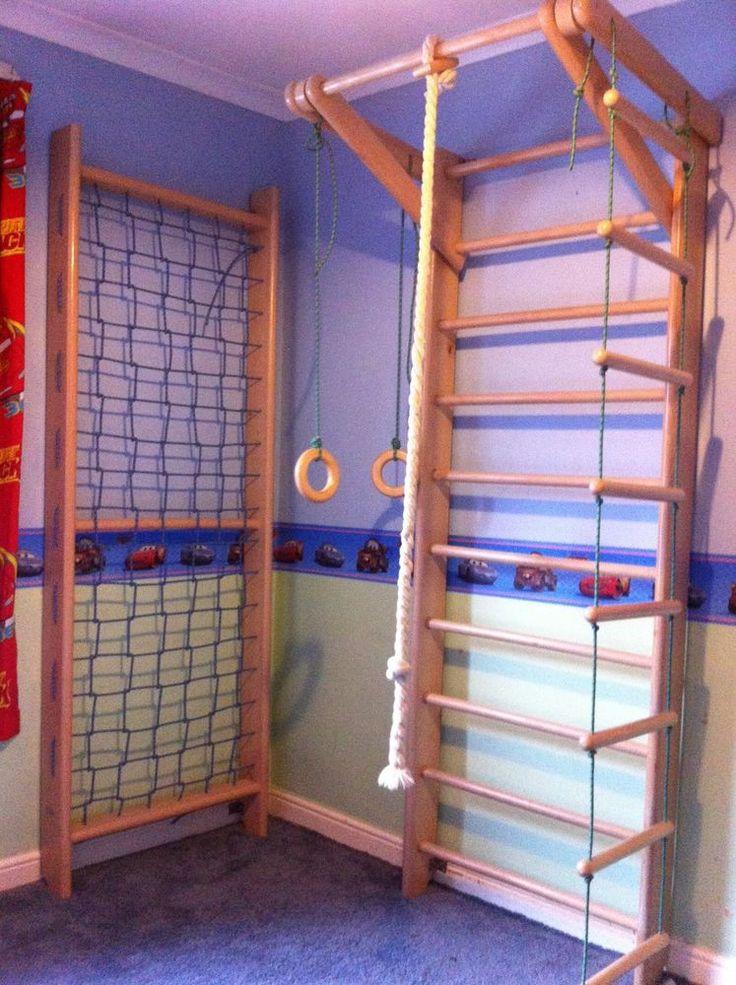 Swedish Ladder Wall Bars, Children home gym, Gymnastic sport complex. 220x80 in Sporting Goods, Gymnastics, Training Equipment   eBay!