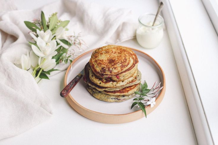 Eleanor Ozich's Raspberry Yoghurt Pancakes Recipe - Viva