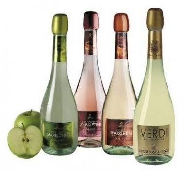 peach champagne Verdi sparkletini
