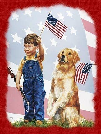 Blessed America, Blue, American, Freedom Rings, Tom Sierak, 4Th Of July, God Blessed, Patriots, Art Painting