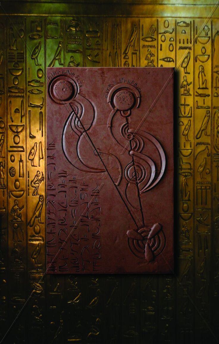 Paralel Evrenler / Parallel Universe '' 90×56 cm  Teknik: Rölyef / Akrilik Boya ve Bronz Patine - Technique: Relief / Acrylic Paint and Bronze Patina ''