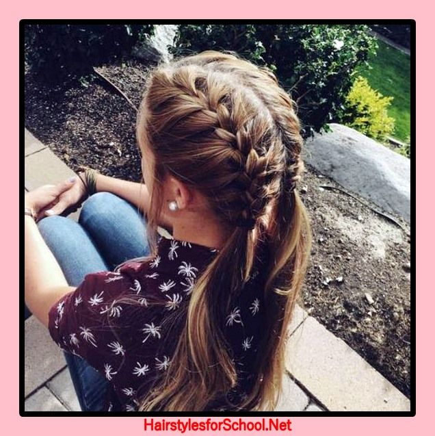Hairstyles To School For Girls 12 Years Old Hairstyles For School French Braid Hairstyles Hair Styles Hairstyle