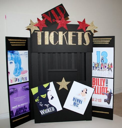 broadway themed party | Broadway seating cards &